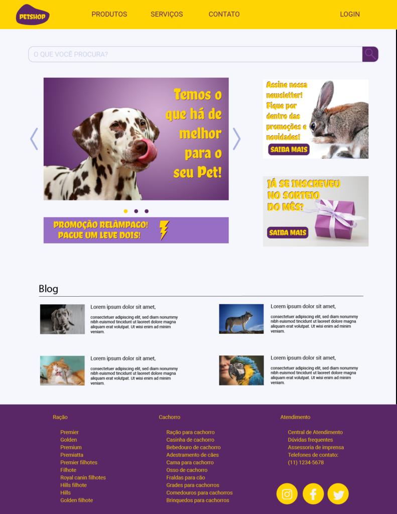 E-commerce Pet Shop